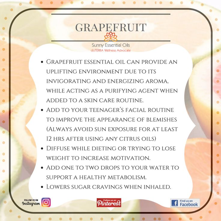 Grapefruit Essential Oil info