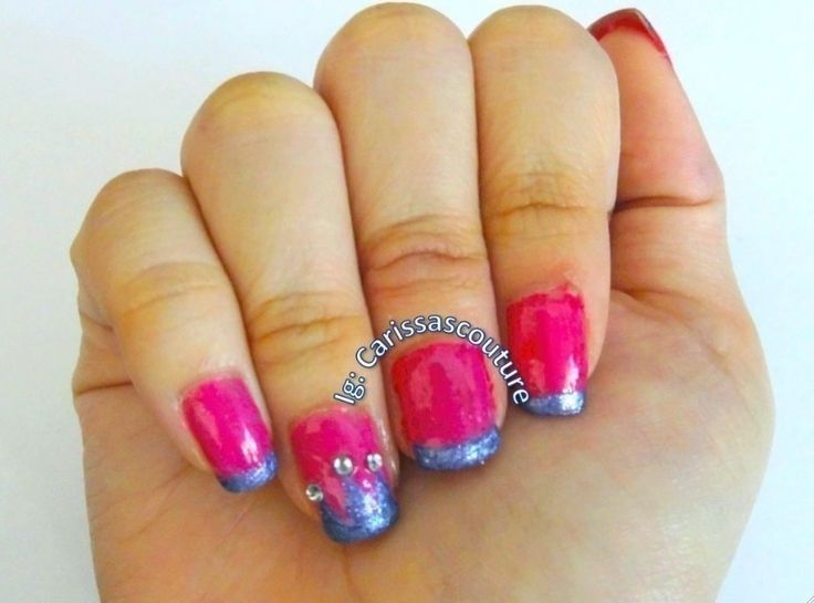 Pink princess crown nails!  #howto #tutorial