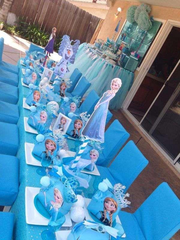 Fiestas infantiles un cumplea os de frozen - Decoracion de mesa de cumpleanos infantil ...
