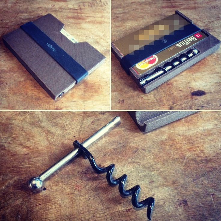 Thanks to zygote.be for this entry. A wallet modified to hide a compact cork screw. Printed on a tripodmaker classic http://tripodmaker.com/shop/product/tripodmaker-classic-assembled-1167 #rapidprototyping #productdesign #gadgets #modified #tripodmaker #winetime #nocorkscrewproblems #wine #3dprinting #corkscrew