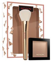 Contains: Revlon Highlighting Palette Sun Glow + Bronzer Brush