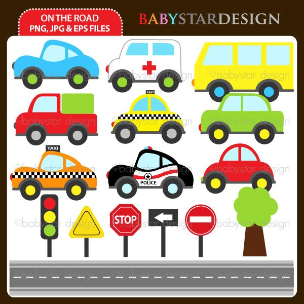 16 graphic elements of on the road theme. Perfect for your birthday invitation, craft projects, paper products, stationery, scrapbooking, web designs, stickers and many more!