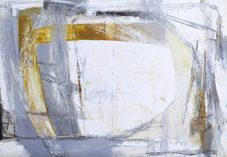 Paul Feiler: Portheras Grey (1959-61).  Another new name to me - one of the St Ives School of abstractionists. This is spectacular - austere but with hints figuration. A landscape? Is that a mast and sail on the right? A view through a window to a storm lashed sky? Marvellous...