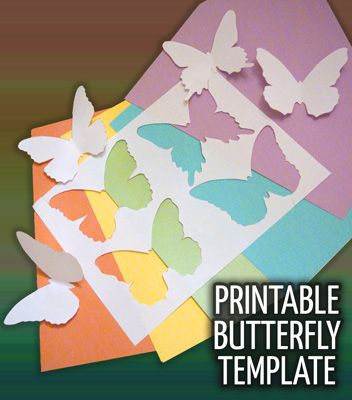 Printable Butterfly Template. The butterflies would be adorable as a mobile.
