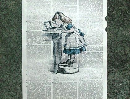 Vintage Dictionary Print - Alice in Wonderland