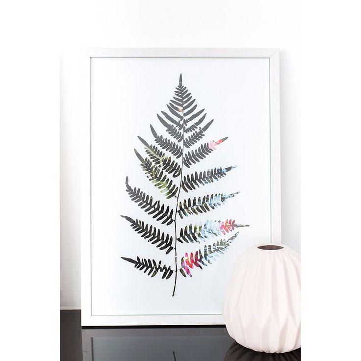 Liever geen echte plant in huis? Kies dan voor deze leuke poster van Sparkling Paper.