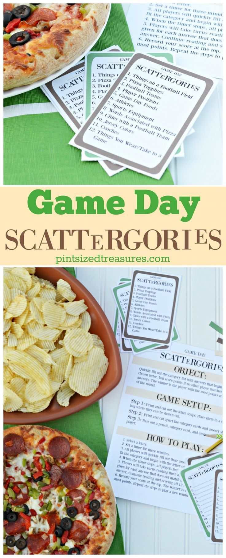Printable Game Day Scattergories Football Games For Kids Scattergories Indoor Games For Adults