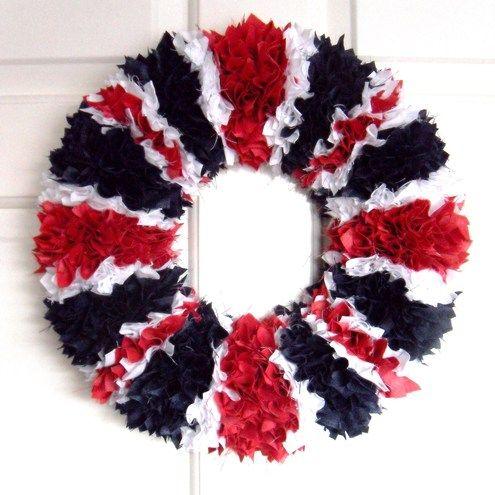 Union Jack Door Wreath....I just love love love this.