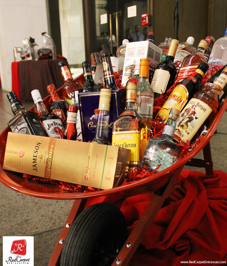 BEST AUCTION ITEM FOR EVENTS EVER! Wheel barrow full of assorted liquor. Reach out to your local alcohol / beverage distributors or simply ask your board / volunteers / sponsors to bring (1) type of liquor within a certain dollar range. Feature this bounty of booze somewhere that will bring it lots of attention. Sell raffle tickets. Hands down, one of the most effective raffle items we have ever seen at events. Share this event fundraising tip!