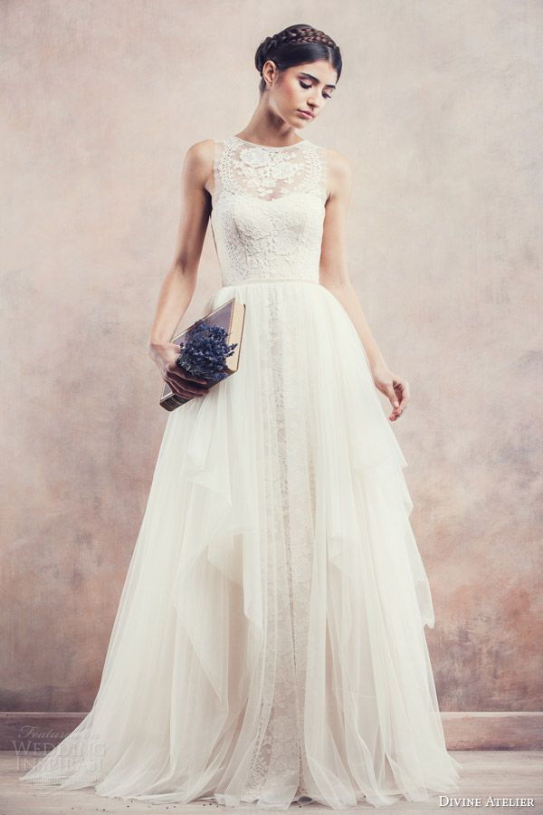 divine atelier bridal 2014 sleeveless ball gown wedding dress anisia