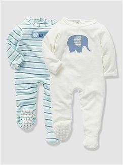 Lot de  pyjamas bébé velours  - vertbaudet enfant