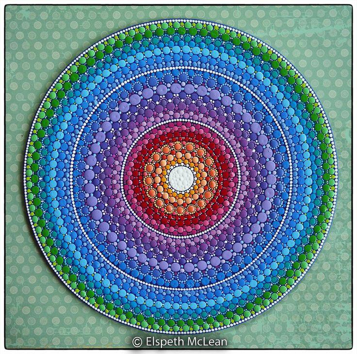 Mandala painting, by Elspeth McLean