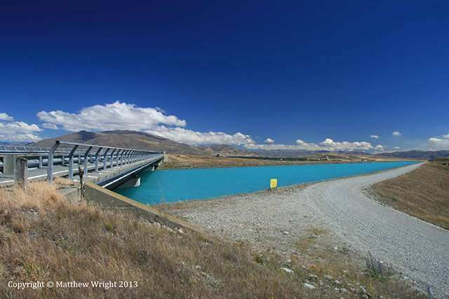 A picture I took in January 2013 of one of the canals in the Upper Waitaki power scheme, South Island, New Zealand.