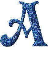 Alfabeto animado azul.