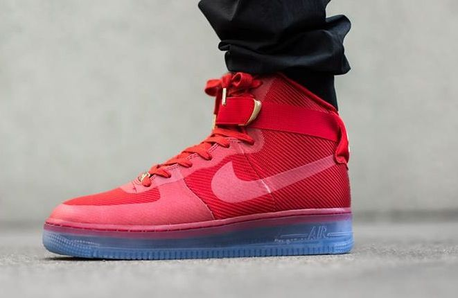 outlet store aa243 f2d36 ... nike lunar force 1 high university red ice sole ... all red air ...