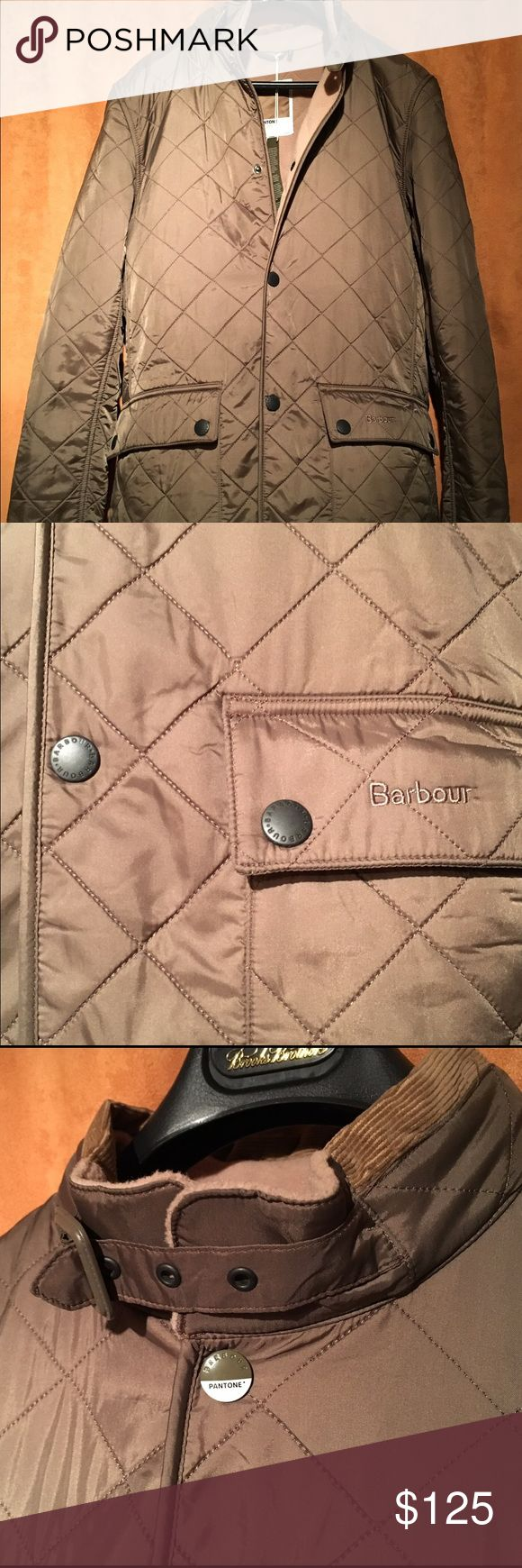 NWT Barbour X PANTONE Polartone Quilted Jacket Brand New Limited Edition Barbour X PANTONE Polartone Quilted Jacket. Equipped with a full fleece lining, this lightweight yet effective quilt has a cord trimmed collar with a traditional buckle secured storm flap, two flap closed pockets and is finished with a detail top stud inspired by the Pantone logo. 100% Nylon Shell Fleece Lining Tonal Corduroy Collar and Trim Two Flap Covered Pockets Cross-Branded Top Stud Barbour Jackets & Coats