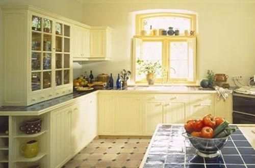 Light Yellow Country Kitchen Design Modern Country Kitchen