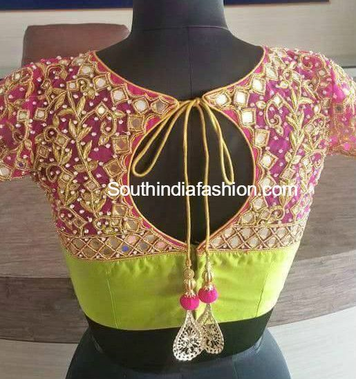 Latest maggam work blouse designs for silk sarees. Related PostsEmbroidered Blouse DesignsStunning Wedding Blouse DesignsElbow Length Sleeves Wedding Saree Blouse DesignsBlouse Designs for Silk Sarees