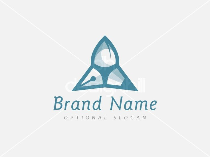 New logo design for sale on Design Hill - black, blue, memorable, elegant, creative, simple, triple, pencil, brush, fountain pen, ink, triangle, creativity, tool, draw, pyramid, delta, visual, art, write, compose, crayon, digital, tattoo, media, entertainment, artist, office, education, logo, design, template,