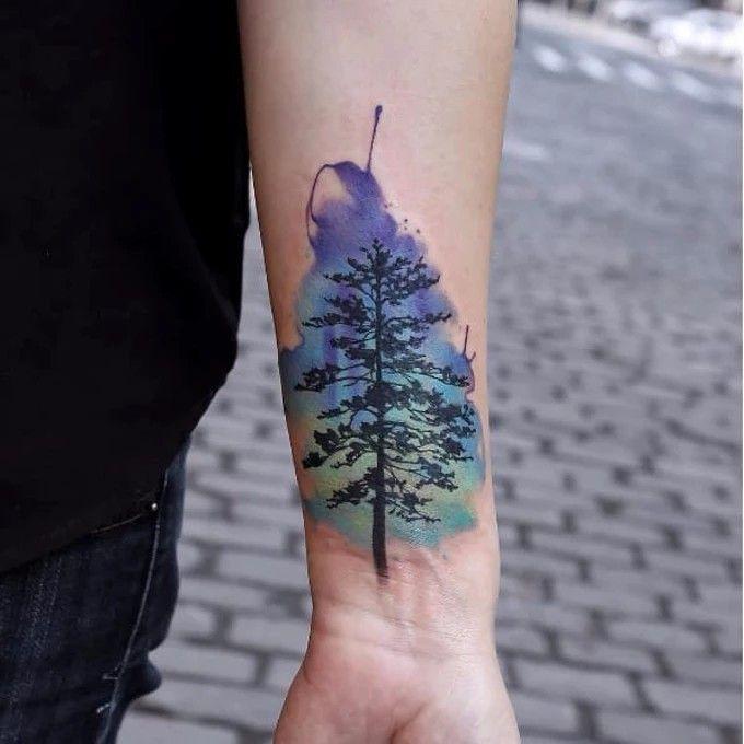 Best 25 Watercolor Tattoo Tree Ideas On Pinterest Black