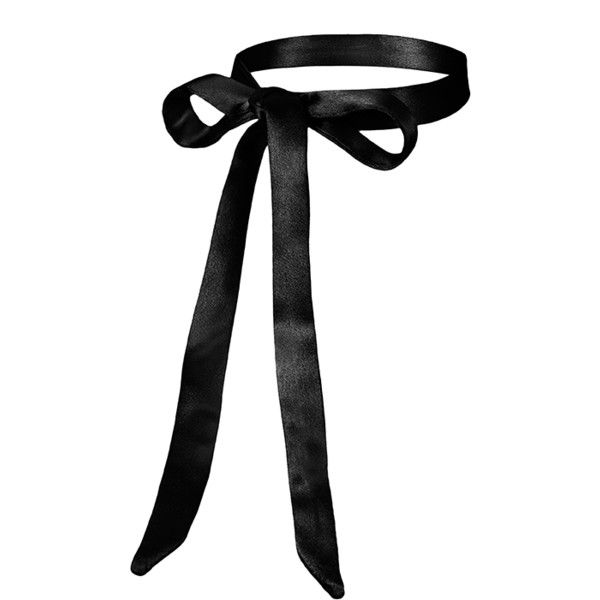 Nida Tie Choker (1.342.780 VND) ❤ liked on Polyvore featuring jewelry, necklaces, accessories, chokers, black, choker necklace, tie choker necklaces, tie choker, choker jewelry and tie necklace