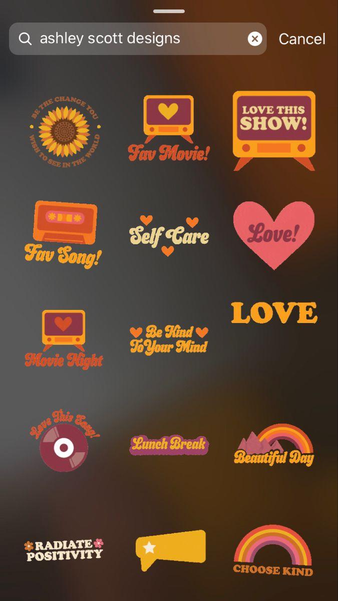 Retro Instagram Stickers In 2020 Vintage Instagram Instagram Emoji Creative Instagram Stories