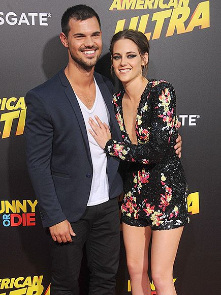 Taylor Lautner and Kristen Stewart had a Twilight reunion at the premiere of American Ultra
