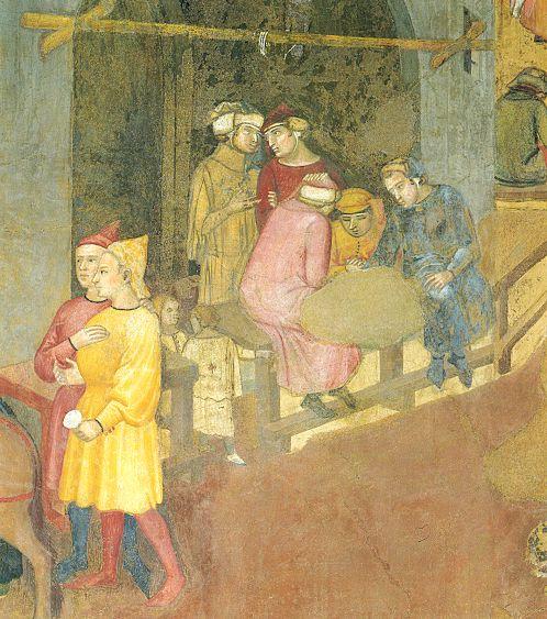 Ambrogio Lorenzetti - Bottega urbana (Gli Effetti del Buono Governo in città) - affresco - 1338-1339 - Siena - Palazzo Pubblico, Sala dei Nove o Sala della Pace