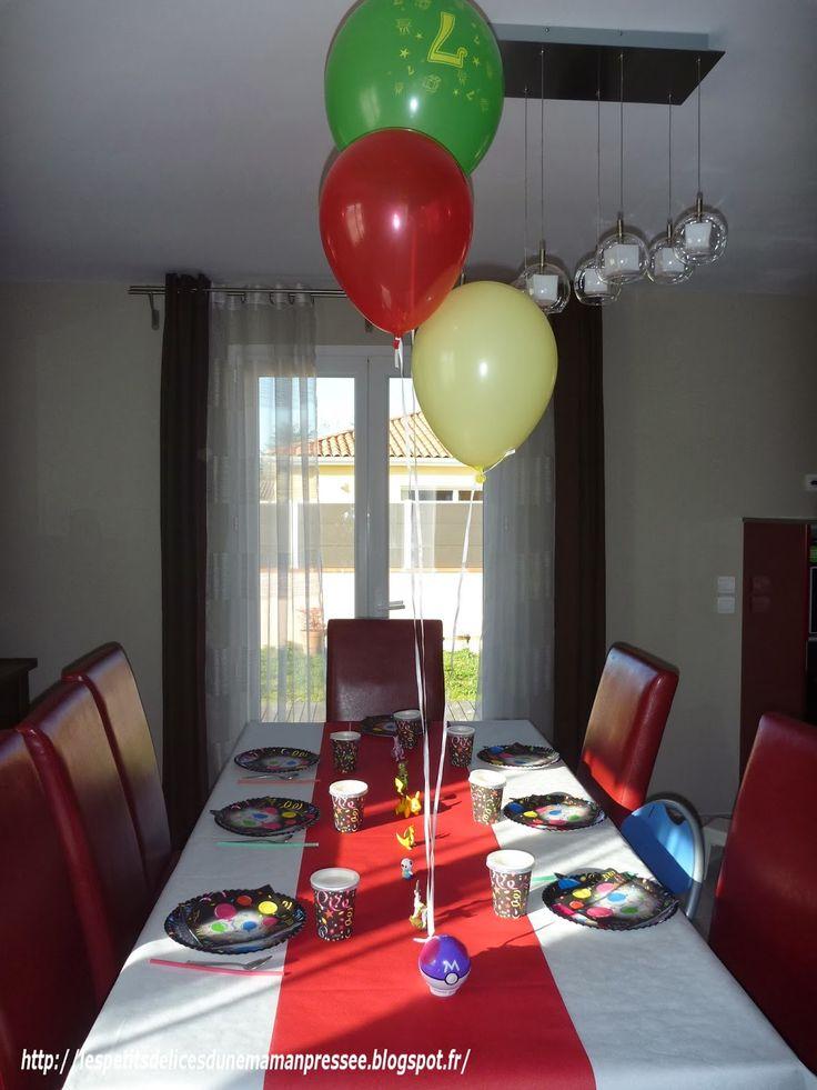 Mon loulou vient de fêter ses 7 ans ! Pour cette occasion, ce dernier m'a demandé de lui préparer un anniversaire POKEMON. Ainsi, j'ai prévu : Un gâteau POKEBALL Un gâteau PYROLI Des p…
