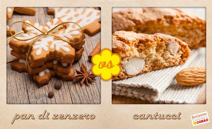 Tra i biscotti delle feste, spiccano #Cantucci e #PandiZenzero. Tu quali preferisci?