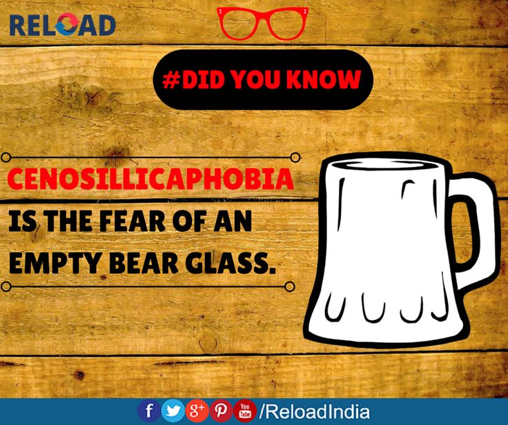 #NewYear parties definitely will have a lot of cenosillicaphobes!  Do you also fear an empty bear glass?