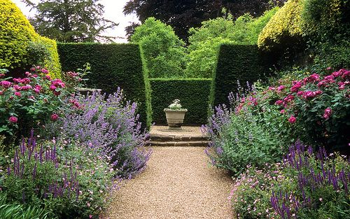 Ascott House Gardens, Buckinghamshire, UK | Traditional English flower borders with roses, nepeta and flowering geraniums in summer (22 of 22)