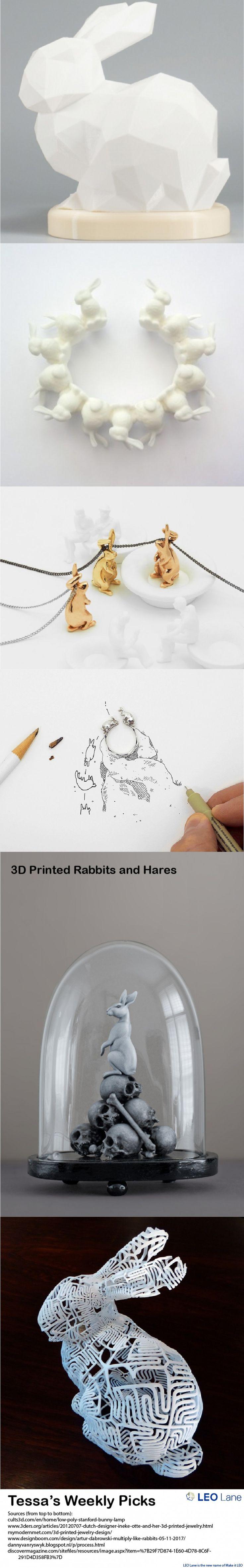 Charming Tessau0027s Weekly Picks U2013 3D Printed Rabbits And Hares