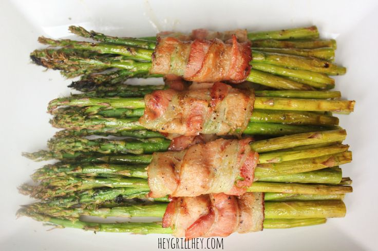 Grilled Bacon Wrapped Asparagus-heygrillhey.com
