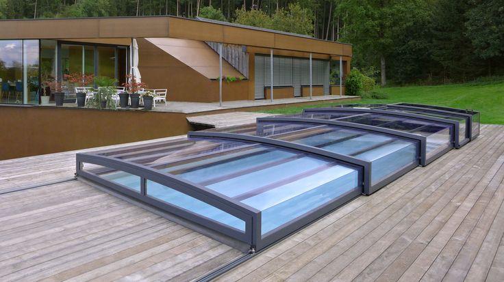 Zastřešení bazénů - POPP - model PRESTIGE P7 - čisté linie v kombinaci s moderní architekturou