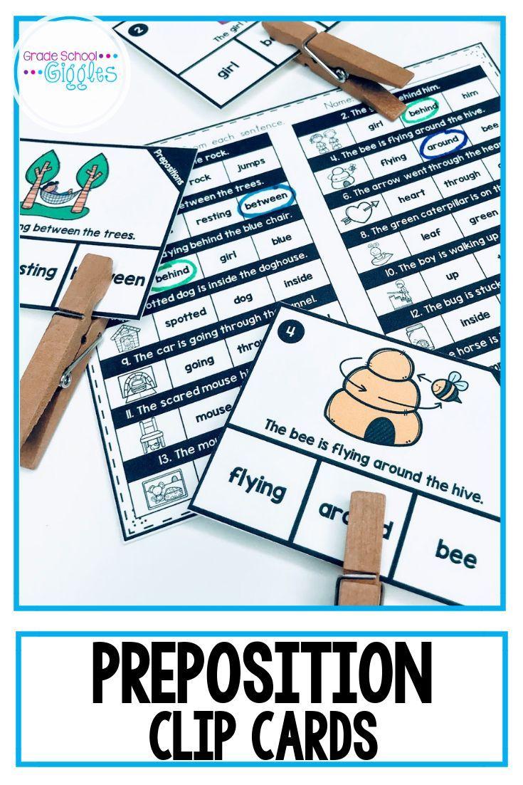Preposition Activities With Preposition Worksheets   Grade School ...