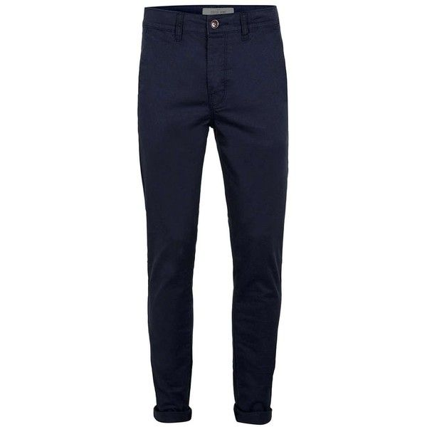 TOPMAN Indigo Stretch Skinny Chinos (105 BRL) ❤ liked on Polyvore featuring men's fashion, men's clothing, men's pants, men's casual pants, men, blue, mens skinny chino pants, mens blue chino pants, mens chinos pants and mens pants