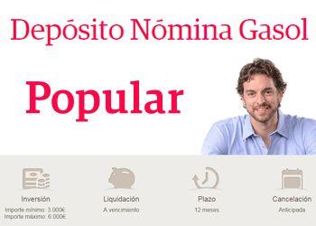 El depósito Nómina Gasol ofrece el mayor interés del mercado
