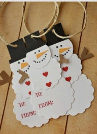Tags - would be easy to cut multiples with the  silhouette. Kids could glue.