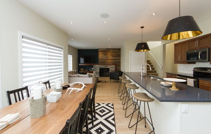 Stan Bailie Showhome Open concept kitchen, dining room and living room