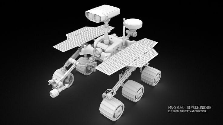 Mars Robot. , Ruy Lopez on ArtStation at https://www.artstation.com/artwork/JzVZv