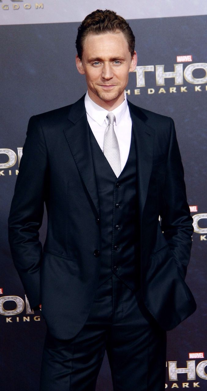 """yepthatstheone: """" the-haven-of-fiction: """"~ Tom Hiddleston and The Silver Tie ~ """" Love that tie!!!! """""""