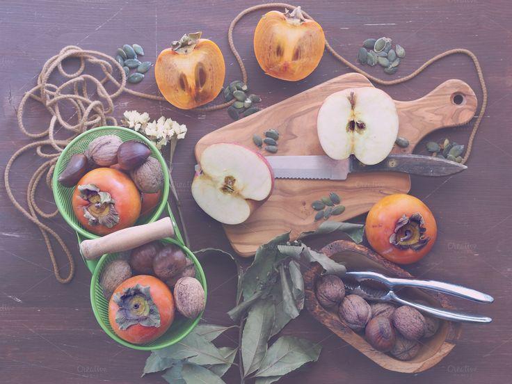Autumn fruit still life by Life Morning Photography on Creative Market