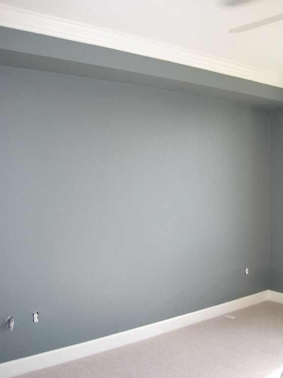 Wall paint color is Martha Stewart Schoolhouse Slate. Gorgeous blue/gray. Would be a stunning cabinet color too!