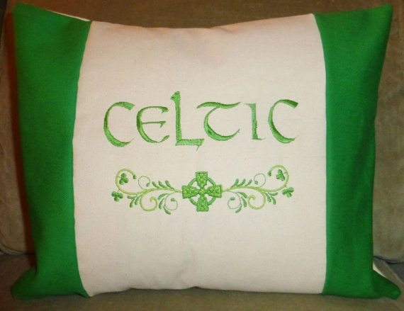 16 best irish baby gifts images on pinterest irish baby baby celtic pillow irish pillow embroidered shamrock and celtic cross decorative pillow st patricks day personalized irish pillow negle