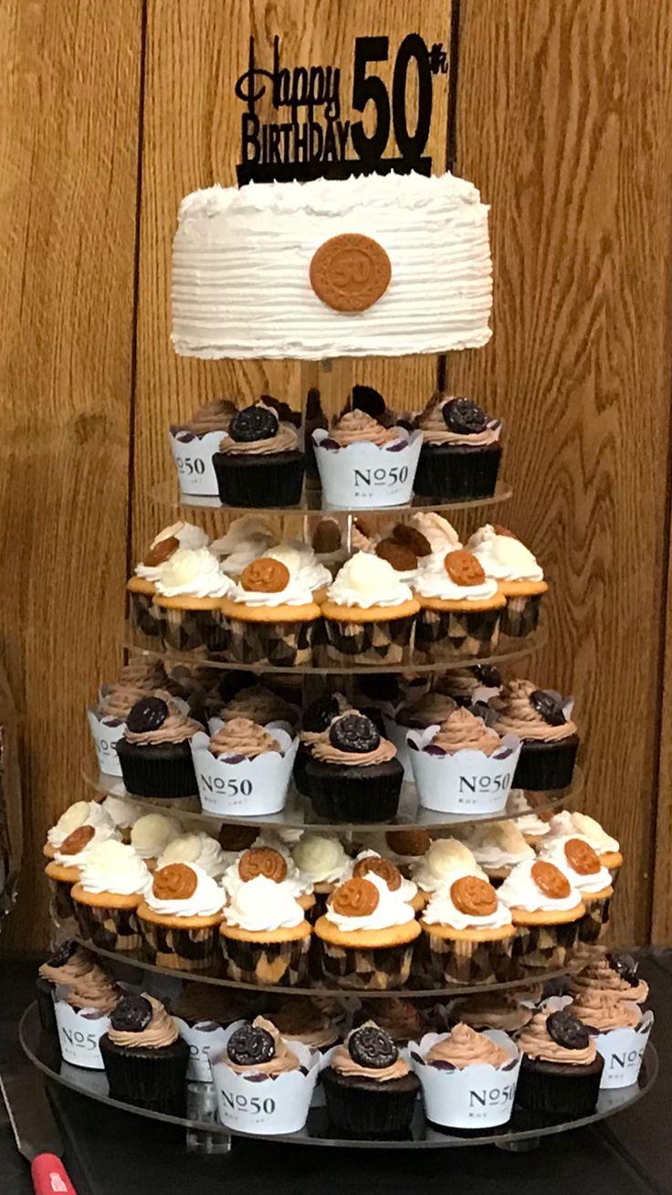 50th birthday Carmel apple cake/cupcake chocolate cupcake tower