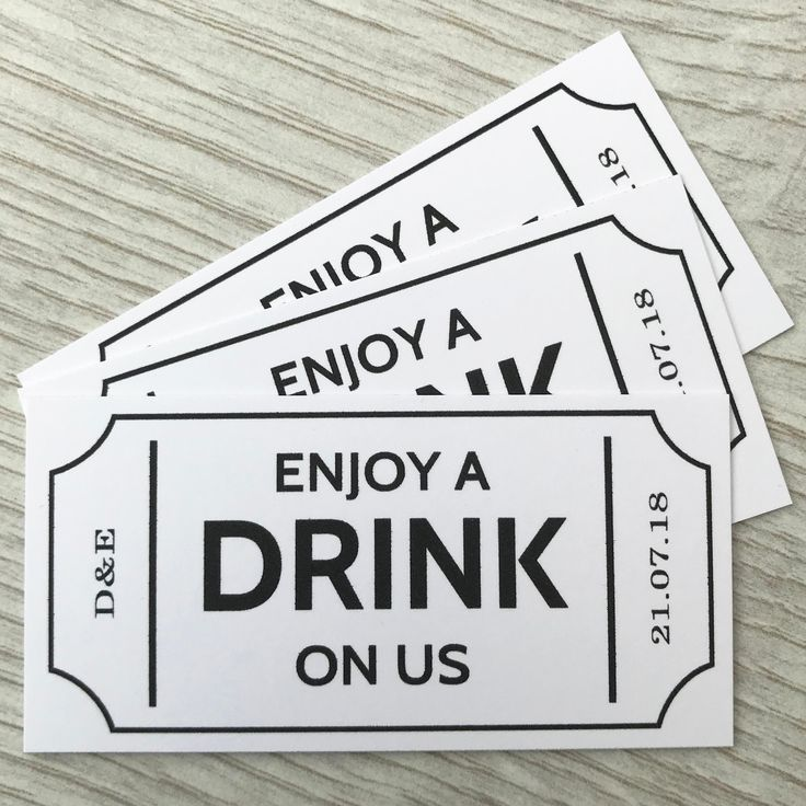 Voucher Design Coupon Diy Voucher Design Drink Ticket Wedding Drink Tickets