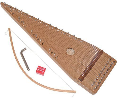 Zither Heaven 22 String Cherry Bowed Psaltery by Zither Heaven, LLC. $109.83. Zither Heaven's bowed psaltery features a triangle shape, which separates the strings to form a diatonic scale on one side and the remaining chromatic notes on the other side. Simply designed and easy to bow, the Zither Heaven psaltery is an ideal instrument for a young child interested in music. Experienced musicians can appreciate the instrument's chromatic capability and resonant sound.