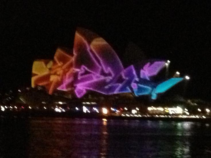 Opera House Sydney-Vivid Sydney lichtfestival