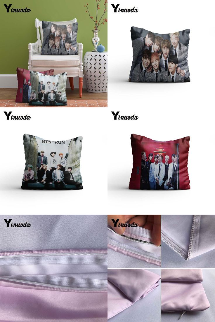 [Visit to Buy] Bts 2015 Album Photoshoot Fashion Soft Conceal Zippered Twin Sides Printing Throw Pillowcase Cushion Cover #Advertisement